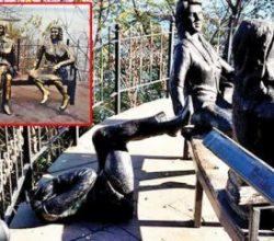 3 kadın heykeline yine saldırdılar