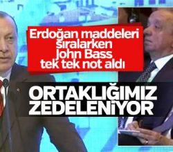 ABD Büyükelçisi Erdoğan'ın sözlerini not aldı