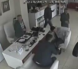 Adana'da tekerleğin iş yerine girme anı
