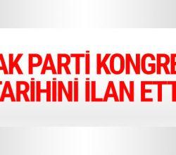 AK Parti'den son dakika kongre kararı tarih kesinleşti!