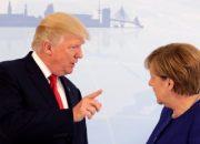 Almanya'da Merkel-Trump görüşmesi
