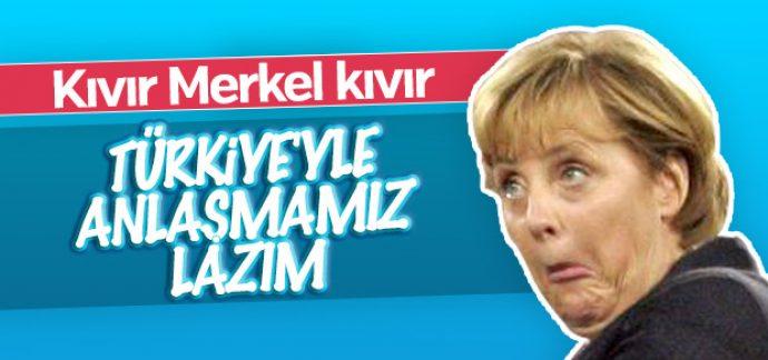 Angele Merkel Türkiye ile anlaşmak istiyor
