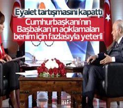 Bahçeli'den Başbakan ve Cumhurbaşkanı'na destek