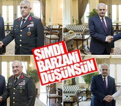 Başbakan, komutanlarla tek tek görüştü
