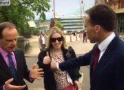 BBC muhabirinden canlı yayını bölen kadına nahoş müdahale