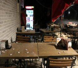 Beşiktaş'ta tarihi binanın duvar parçası düştü: 4 yaralı