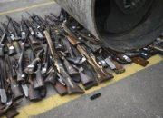 Brezilya'da güvenlik güçleri 4 bin silahı imha etti