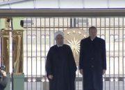 Cumhurbaşkanı Erdoğan Hasan Ruhani'yi kabul ediyor