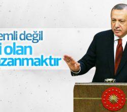 Cumhurbaşkanı Erdoğan: Önemli olan maçı kazanmak