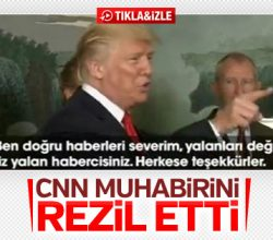 Donald Trump CNN muhabirini azarladı