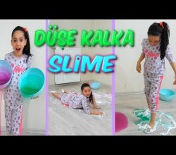Düşe Kalka Slime İle Oynadım Çok İlginç Bir Slime Videosu Oldu!