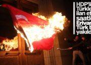 Ermenistan'da Türk bayrağı yaktılar