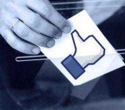 Facebook'ta 'oy veriyorum' butonu