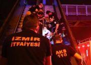 İzmir'de bir adamın ayağı yürüyen merdivene sıkıştı
