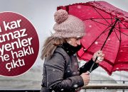 Kar, İstanbul'a uğradı gitti