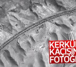 Kerkük-Süleymaniye yolunun uydudan çekilen fotoğrafı