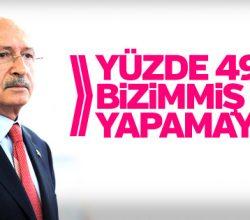 Kılıçdaroğlu: Yüzde 49 bizimmiş gibi yapamayız