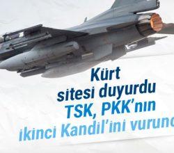 Kürt sitesi duyurdu! TSK ilk kez Sincar'ı vurunca…