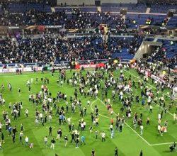 Lyon ile Beşiktaşlı taraftarlar arasında kavga çıktı