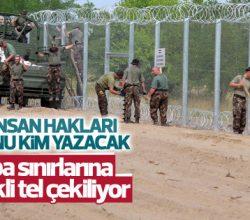 Macaristan sınırlarına elektrikli tel çekildi