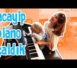 Maya ile Noa Acaip Piyano Çaldılar | Bizim Aile Eğlenceli Çocuk Videoları