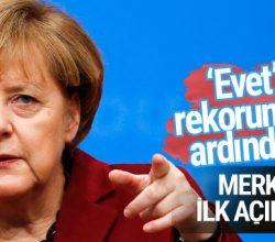 Merkel'den referandum sonrası ilk açıklama