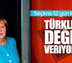 Merkel gurbetçilerin oylarına talip oldu