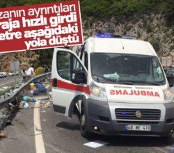 Muğla'daki kazada otobüs 30 metre yükseklikten düştü