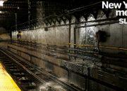 New York metrosunu su bastı