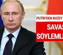 Putin'den Kuzey Kore çağrısı: 'Savaş söylemleri'