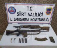 Siirt'te Rusya ve Belçika menşeli silahlar ele geçirildi