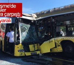 Söğütlüçeşme'de metrobüs kazası