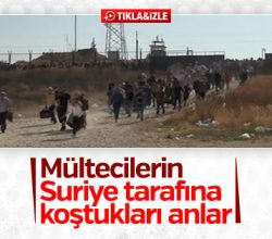 Suriyelilerin sınır kapısındaki bayram geçişinde izdiham