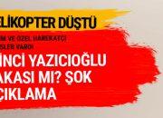 Tunceli'de son dakika polis helikopteri düştü