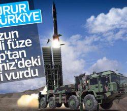 Türkiye'nin ilk uzun menzilli füzesi testi geçti