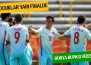 U17 Milli Takımımız yarı finale yükseldi
