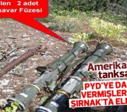 Uludure'de PKK'ya ait ABD yapımı füze bulundu