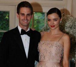 Ünlü manken Miranda Kerr Snapchat'in sahibiyle evlendi