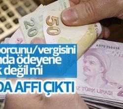 Vergi borçlarını yeniden yapılandırma Meclis'ten geçti