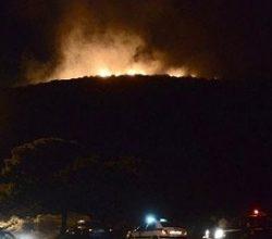 Yunanistan'ın Kalivia bölgesindeki yangın büyüyor